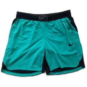 """NEW NIKE Aeroswift 8"""" Green Basketball Shorts L"""